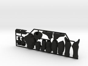 Human Exo-Skin Kit for ModiBot Mo figure in Black Premium Strong & Flexible