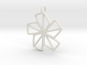 Dainty Flower - 30mm in White Natural Versatile Plastic