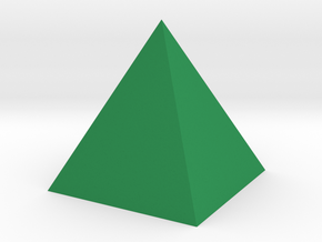 Pyramide - Pyramid in Green Processed Versatile Plastic