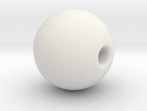 Ball 6.5mm Bead in White Natural Versatile Plastic