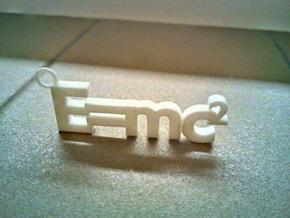 E = mc2 (small version) in White Strong & Flexible