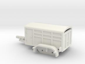 1035 Kleintiertransportanhänger HO 1:87 in White Natural Versatile Plastic: 1:87 - HO