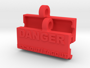LOCK OUT TAG OUT V3.1 in Red Processed Versatile Plastic