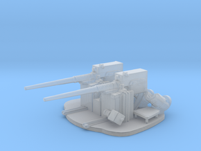 1/200 Scale 3 in 50 Cal Twin Auto Gun in Smooth Fine Detail Plastic