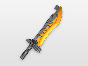 'Magmus Blade' Sword for POTP Dinobots in Orange Strong & Flexible Polished