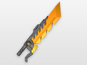 'Pyroclasma' Sword for POTP Dinobots in Orange Processed Versatile Plastic