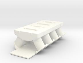 AJPE Hemi 1/12 2x4bbl intake in White Processed Versatile Plastic
