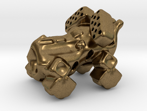 The intrepid cannon space-crawler! in Natural Bronze