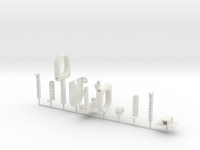 1:10 SCALE BUMPER DUMPER SET in White Natural Versatile Plastic