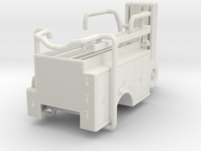 1/87 ALF Engine Body compartment doors #1 in White Natural Versatile Plastic
