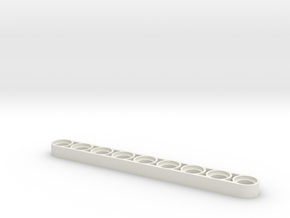 1 x 9 x 1-2 technic beam in White Strong & Flexible