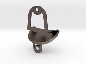 Lite Bottle Opener in Polished Bronzed Silver Steel