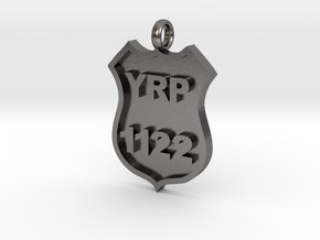 Police Badge Pendant - DO NOT ORDER HERE in Polished Nickel Steel