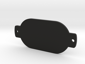 PBRemoteCover in Black Natural Versatile Plastic