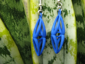 Five Ovals Earrings in Blue Strong & Flexible Polished
