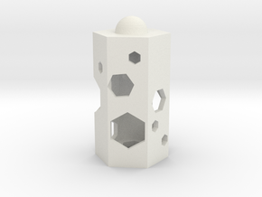 The HONEYCOMB in White Natural Versatile Plastic