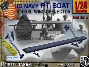 1/24 PT Boat Airfoil Wind Deflector Set001 in Smooth Fine Detail Plastic
