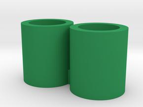 Repto Membros Wrist Cuffs in Green Processed Versatile Plastic