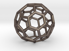 Buckyballs Geodesic Dome Fullerene in Polished Bronzed Silver Steel