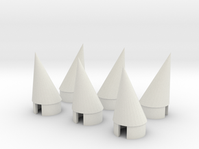 BT 20 Pod nosecone 6EA in White Natural Versatile Plastic