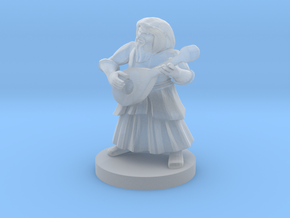 Dwarf Bard in Smooth Fine Detail Plastic