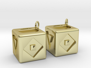 Han Solo's Dice in 18k Gold Plated Brass