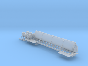 N Side Dump Trailer - Dumping in Smooth Fine Detail Plastic