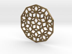 Penrose Pendant in Natural Bronze