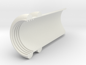 The visor for CREE XM-L T6 in White Natural Versatile Plastic