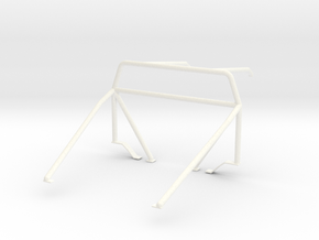 Roll cage 1/18 V3 in White Processed Versatile Plastic