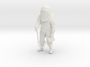 Hazmat Suit / Dosimeter / 1:32 in White Natural Versatile Plastic