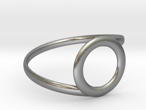 Circle spiral ring in Raw Silver: 10.25 / 62.125