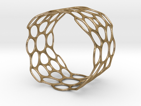 TIS_bracelet_CUBE_wideM_02 in Polished Gold Steel