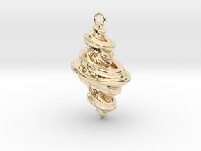 Julia Fractal Pendant in 14k Gold Plated Brass