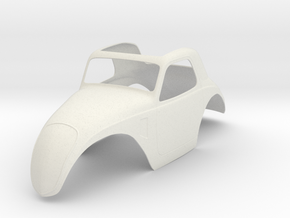 1:8 Fiat Topolino Body in White Natural Versatile Plastic