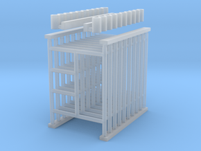 "'N Scale' - (10) 5'x6'-6"" Scaffolding in Smooth Fine Detail Plastic"