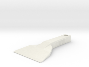 Ultra Durable Ice Scraper in White Natural Versatile Plastic