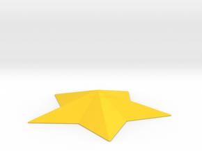 Arcade Star in Yellow Processed Versatile Plastic