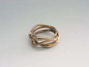 Erato ring in 14k Rose Gold Plated