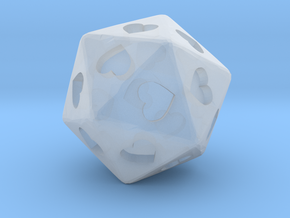 d20 Hearts in Smooth Fine Detail Plastic