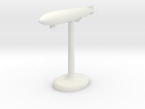 Zeppelin German Airship in White Premium Versatile Plastic