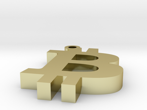 BTC - Bitcoin Pendent in 18k Gold