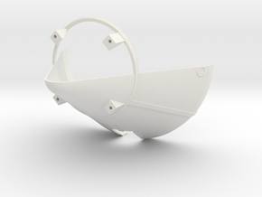 1:24 Cutaway BPC w Umb Cutout in White Natural Versatile Plastic