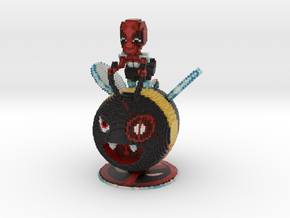 Maid Deadpool on a Bumblebee in Full Color Sandstone
