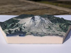 Model of Mt. St. Helens, WA (10cm, Full-Color) in Full Color Sandstone