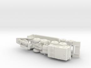 MAZ 537 Tank Transporter 1/144 in White Natural Versatile Plastic
