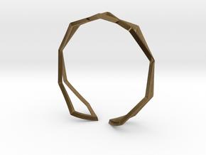 HIDDEN HEART Sharp M, Bracelet in Natural Bronze: Medium