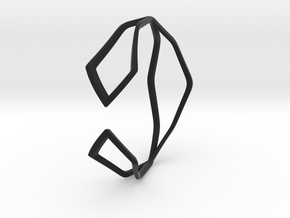 HIDDEN HEART Sharp, Bracelet. in Black Premium Versatile Plastic: Extra Small