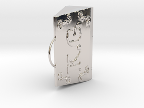 Doctor's Stamp in Rhodium Plated Brass