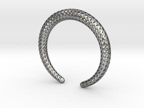 DRAGON Strutura, Bracelet. in Natural Silver: Medium